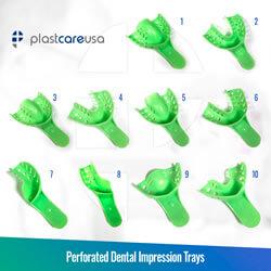 Autoclavable Impression Trays (Sizes 1-10)