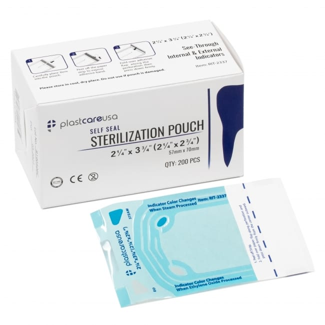 2.25″ x 2.75″ Self-Sealing Sterilization Pouch