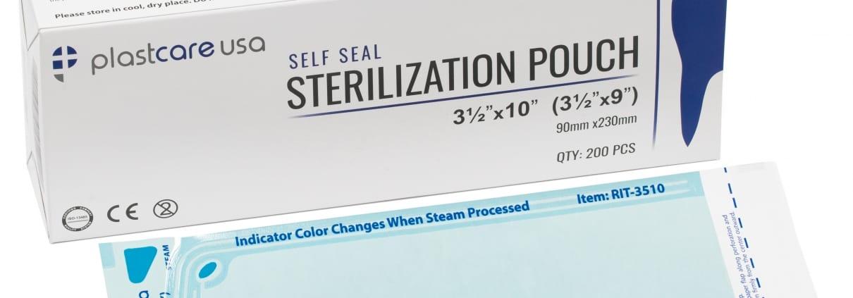 3.5″ x 10″ Self-Sealing Sterilization Pouch