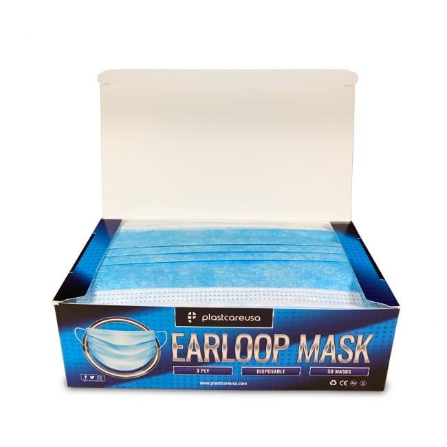 3-Ply Disposable Ear Loop Masks - Blue