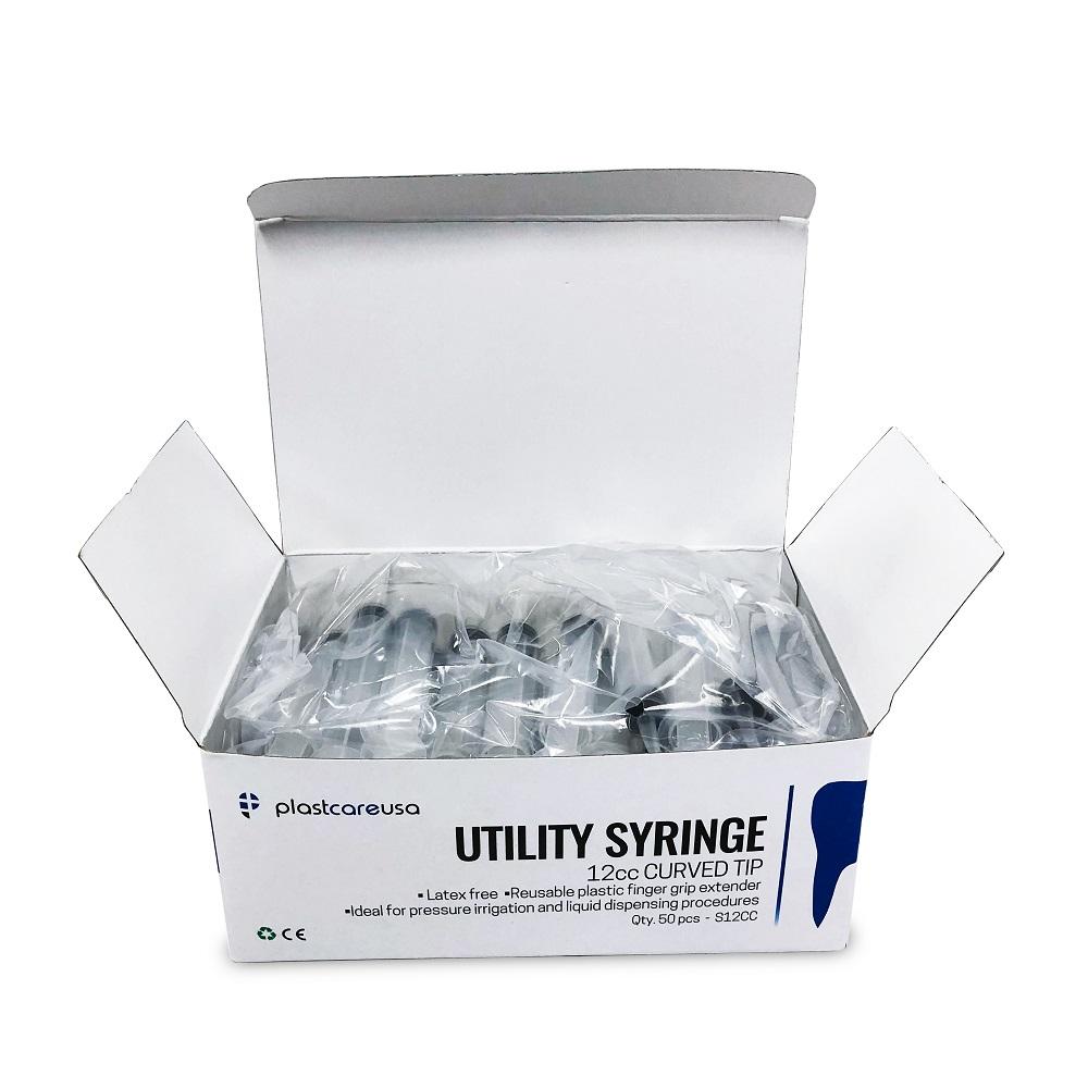 12cc Curved Tip Irrigation Syringes
