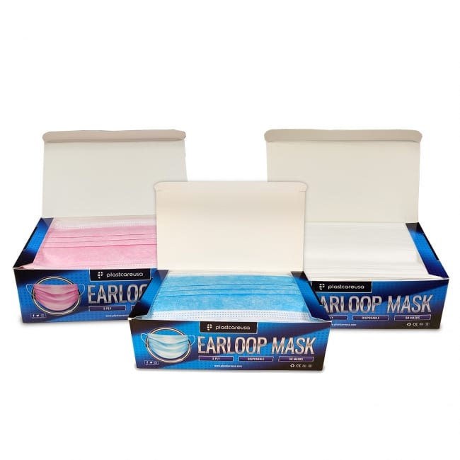 3-Ply Disposable Ear Loop Masks - All Colors