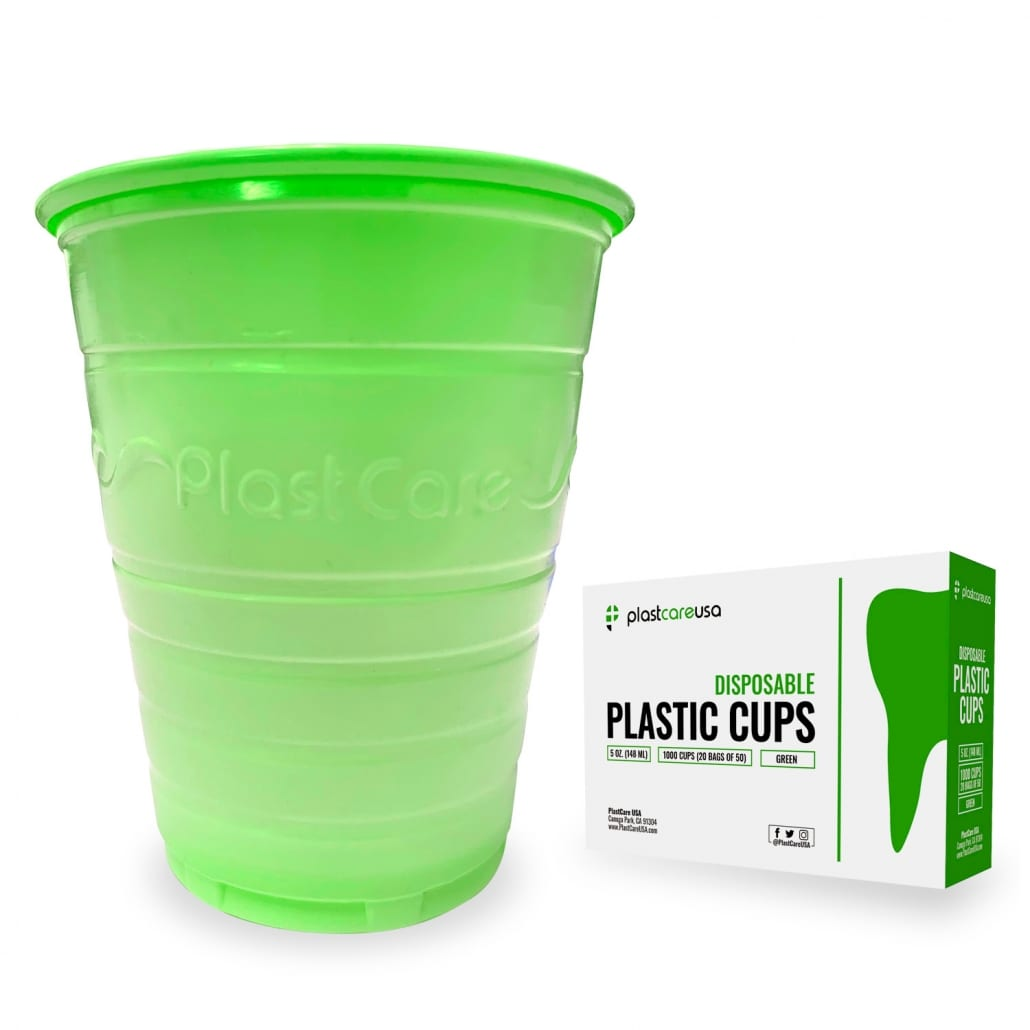Patient Rinse Cups (5 Oz) - Green