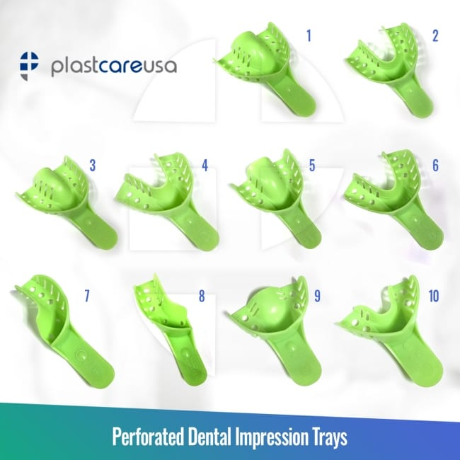 Autoclavable Impression Trays (Sizes 1-10)