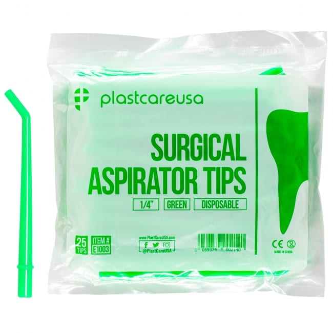 1/4″ Large Green Surgical Aspirator Tips