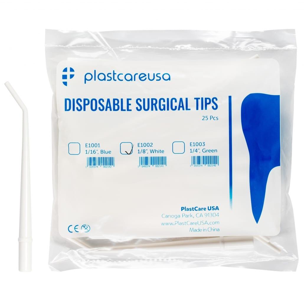 1/8″ Medium White Surgical Aspirator Tips