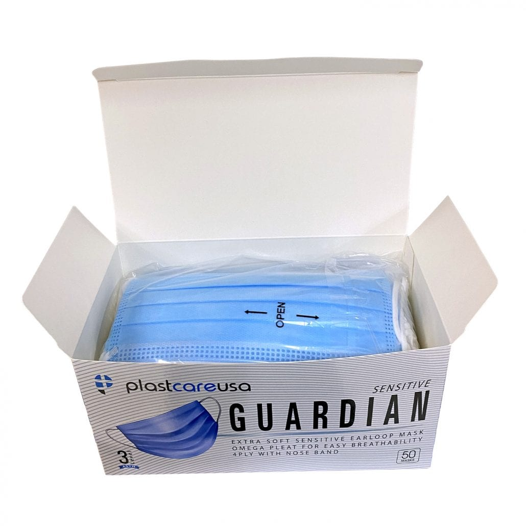 4-Ply ASTM Level 3 Disposable Surgical Masks - Blue