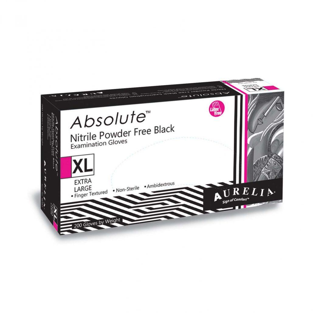 Aurelia Absolute –  Black Nitrile 3.2 mil Gloves